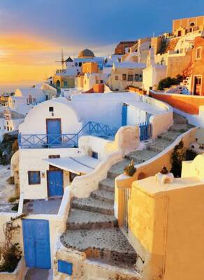 Puzzle 500 Greece, View of Oia Village