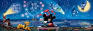 Puzzle 1000 Mickey a Minnie
